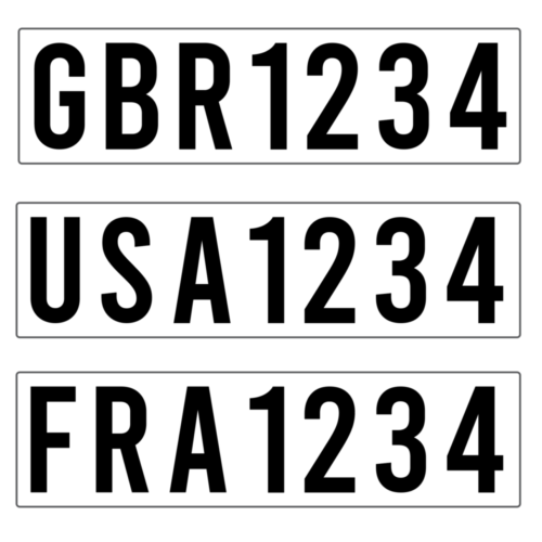 International Specification Sail Numbers Pair Techno