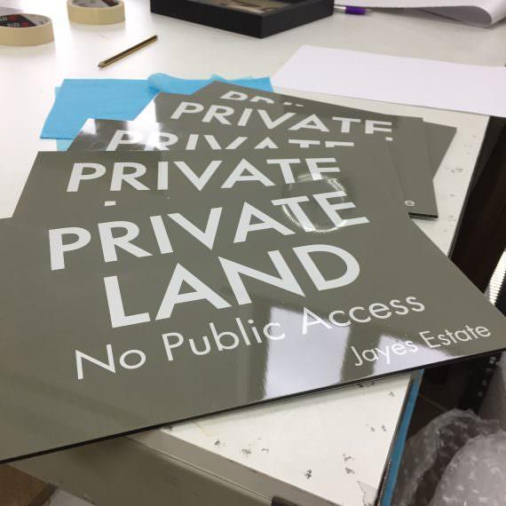 privatelandsign