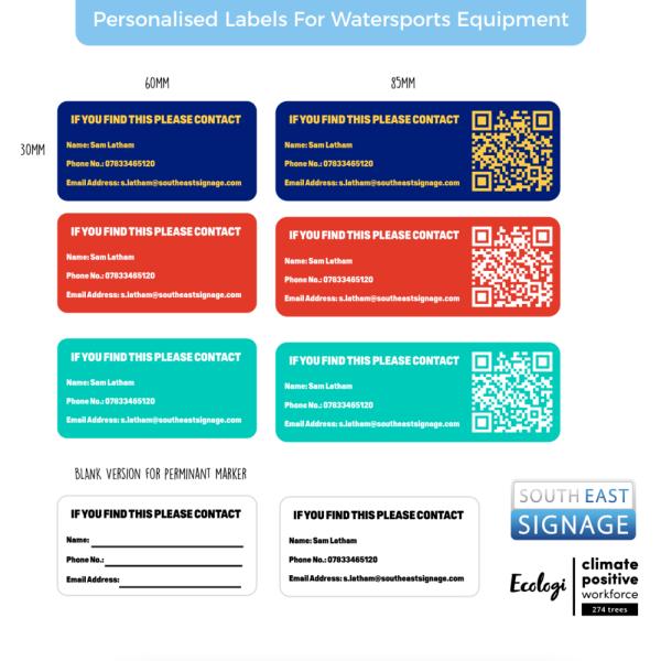 PersonalisedLabelsForWatersportsEquipment